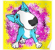 English Bull Terrier Cartoon  Poster