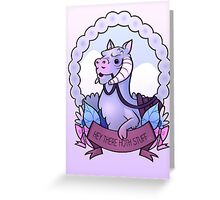 Hey There Hoth Stuff (Tauntaun) Greeting Card