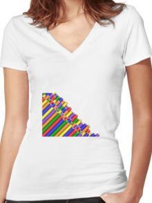 Pencils pile  Women's Fitted V-Neck T-Shirt