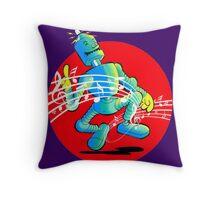 Rockabilly Robot Throw Pillow