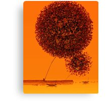 Red Big Trees Canvas Print
