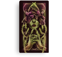 Woman In Vines Canvas Print