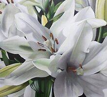 Raw Lilies by Ann Skelly