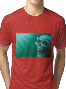green mist Skull Tri-blend T-Shirt