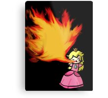 Fire Breathing Princess Peach Metal Print