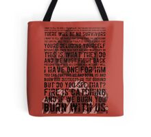 The Hunger Games Typography Tote Bag
