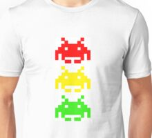 Space Invader Stoplight Unisex T-Shirt
