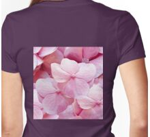 Pinkie, hydrangea flowers violet pink floral pattern Womens Fitted T-Shirt