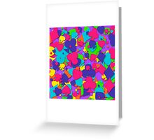 Colorful Playing Card Suits Greeting Card