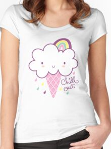 Chill Out Cloud Ice-cream Women's Fitted Scoop T-Shirt
