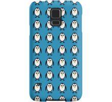 Penguin Pattern on Blue Background Samsung Galaxy Case/Skin