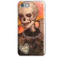 Skull and Raven  iPhone Case/Skin