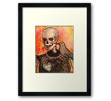 Skull and Raven  Framed Print