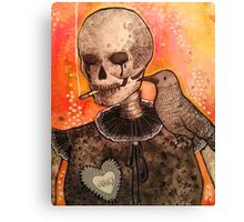 Skull and Raven  Canvas Print
