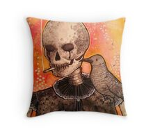 Skull and Raven  Throw Pillow