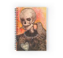 Skull and Raven  Spiral Notebook