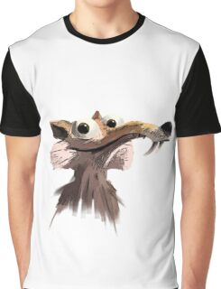 ICE AGE - Scrat 's face Graphic T-Shirt