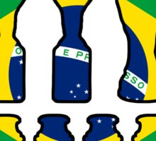 Brazil World Cup and Copa America Trophy Cabinet Sticker