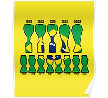 Brazil World Cup and Copa America Trophy Cabinet Poster