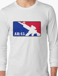 AR15 Red White and Blue Long Sleeve T-Shirt