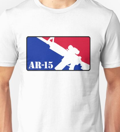 AR15 Red White and Blue Unisex T-Shirt