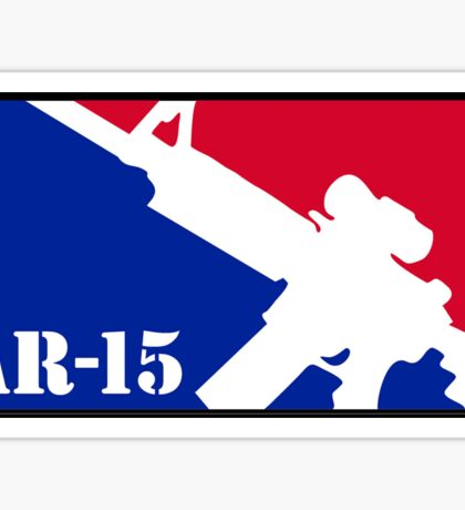 AR15 Red White and Blue Sticker