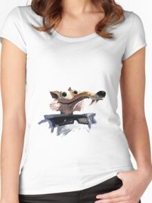 ICE AGE - Scrat 's spacesuit Women's Fitted Scoop T-Shirt