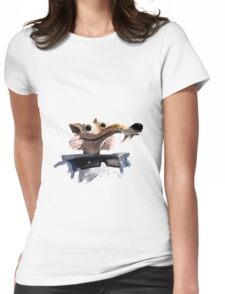 ICE AGE - Scrat 's spacesuit Womens Fitted T-Shirt