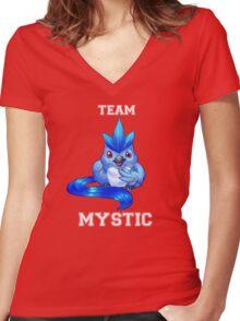 TEAM MYSTIC! Women's Fitted V-Neck T-Shirt