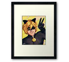 Chat Noir - Miraculous Ladybug Framed Print