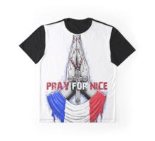 Pray for Nice French Graphic T-Shirt