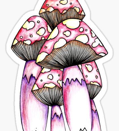 Toadstools Sticker