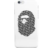A Bathing Ape BAPE x Palace Skateboards (Black & White) iPhone Case/Skin