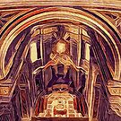 St Peter's Basilica Dome Interior Vatican Italy by Beverly Claire Kaiya