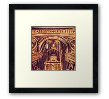 St Peter's Basilica Dome Interior Vatican Italy Framed Print