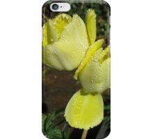 Raindrop Jewels on Sunshine Yellow Frilled Tulips  iPhone Case/Skin
