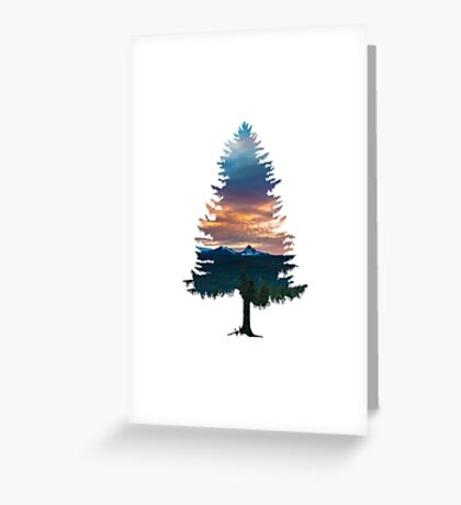 Spruce Tree Greeting Card