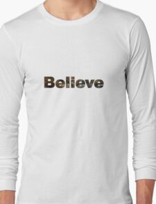 Believe - Skyrim Long Sleeve T-Shirt