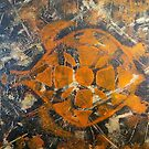 "Acrylic paint on small Wooden board ""Turtle"" by catherine walker"