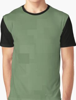 Vineyard Green Square Pixel Color Accent Graphic T-Shirt