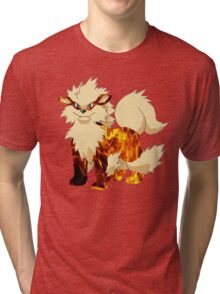 Arcanine-Pokemon Tri-blend T-Shirt