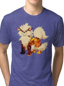 Arcanine-Pokemon Tri-blend T-Shirt