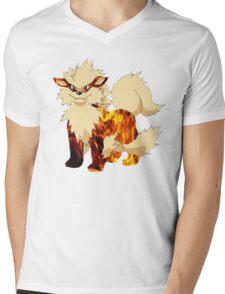 Arcanine-Pokemon Mens V-Neck T-Shirt