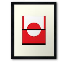 Pokemon Go Minimalism (red and white) Framed Print