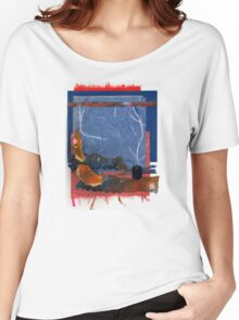 Blue and Orange Collage Women's Relaxed Fit T-Shirt