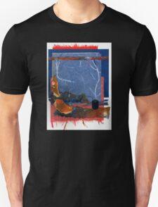 Blue and Orange Collage Unisex T-Shirt