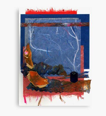 Blue and Orange Collage Canvas Print