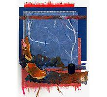 Blue and Orange Collage Photographic Print