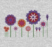 Fractal Flower Garden One Piece - Long Sleeve