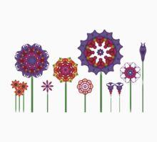 Fractal Flower Garden Kids Tee
